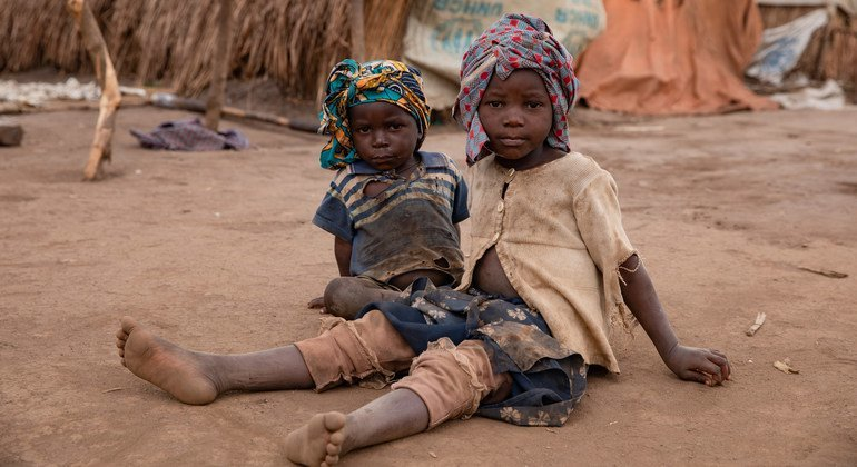 Two boys at the Loda camp for internally displaced people in Ituri, Democratic Republic of the Congo (file photo).