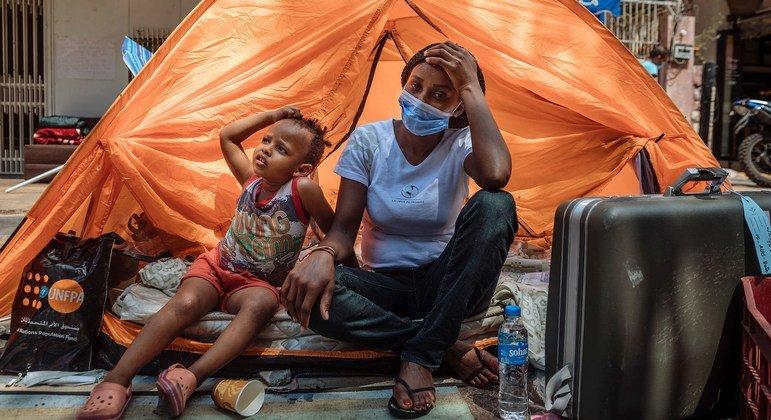 Des tentes ont été fournies aux migrants à Beyrouth qui n'ont plus d'endroit pour vivre.