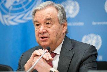 联合国秘书长古特雷斯资料图片。