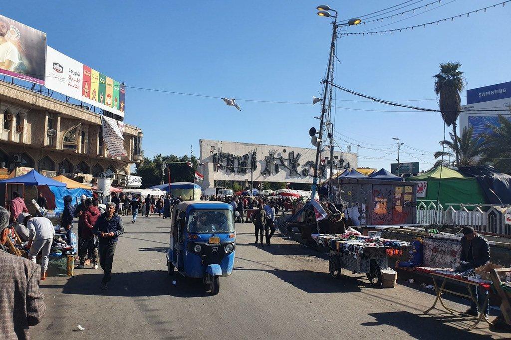 سوق في بغداد بالعراق