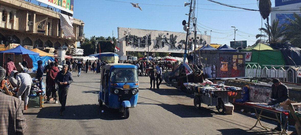 من الأرشيف: سوق في بغداد بالعراق