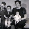 Baby Vered Kater with her parents and brothers in Holland in the 1940s.