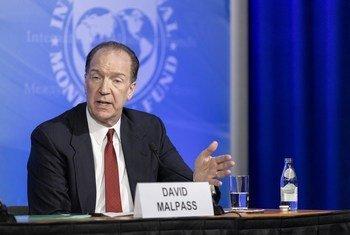 Presidente do Banco Mundial, David Malpass, alívio da dívida tem sido mais fraco do que o esperado.