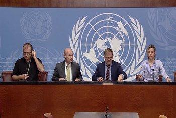 مؤتمر صحفي في جنيف حول الأوضاع في شمال غرب سوريا وخاصة إدلب