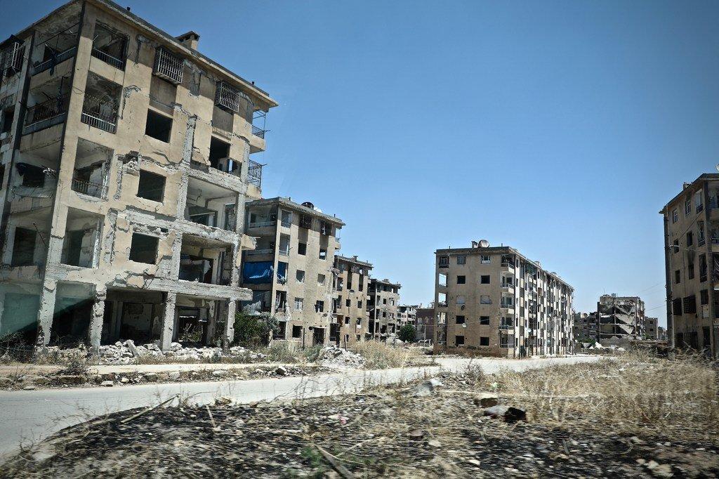 Des bâtiments détruits dans l'est de la ville d'Alep, en Syrie. (photo d'archives)