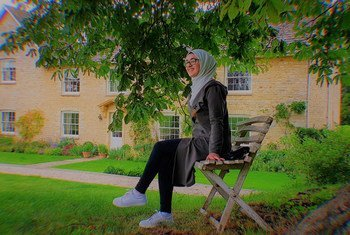 Syrian refugee and poet, Amineh Abou Kerech, (16) left her war-torn country at the age of seven.