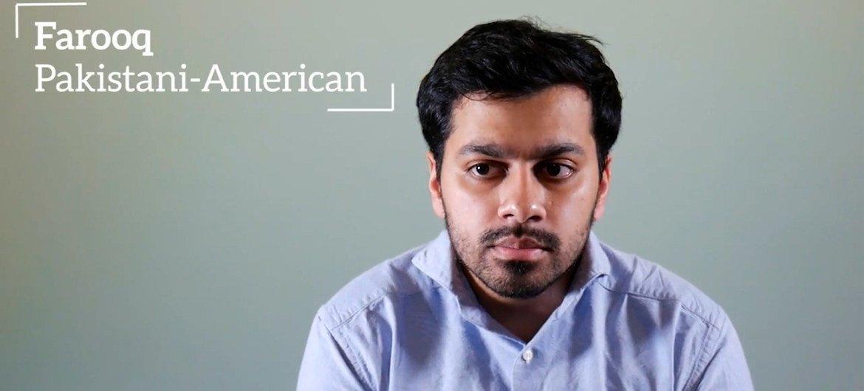 巴基斯坦裔二代移民法鲁克回忆起911事件后遭遇的敌意。