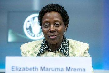 Elizabeth Maruma Mrema, Katibu Mtendaji wa Sekretarieti ya Mkataba wa Kimatafa wa Bayonuai ya kibaiolojia, CBD.