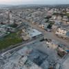 صورة جوية للدمار الذي لحق بإدلب في شمال غرب سوريا
