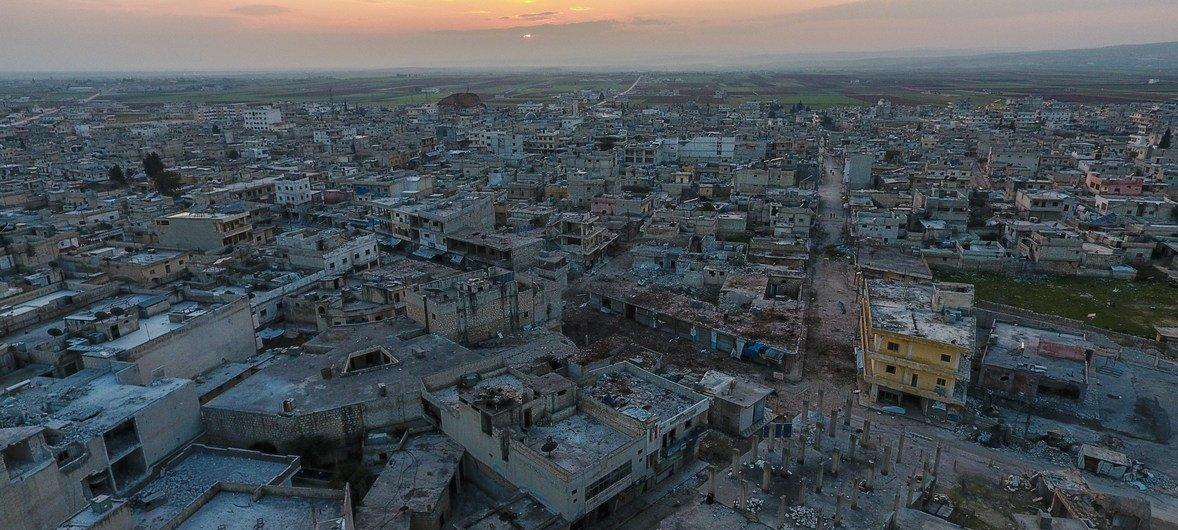 Les combats dans le nord-ouest de la Syrie ont entraîné une destruction généralisée à Idlib.