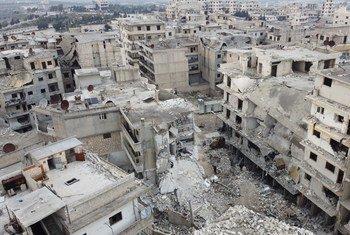 De nombreuses villes du nord-ouest de la Syrie on été détruites par le conflit