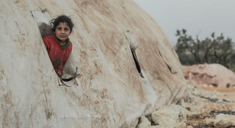 Temperatures at displacement camps in northwestern Syria have reached minus 10 degrees Celsius.