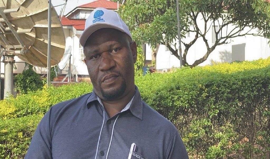 Evans Siangicha, Mratibu wa Umoja wa Mataifa wa Programu ya pamoja ya Kigoma akihojiwa mjini Kigoma.