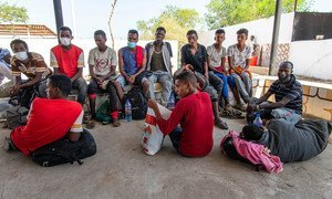 Migrants rescued from a vessel off the coast of Djibouti are accommodated at a  rescue centre. (file)
