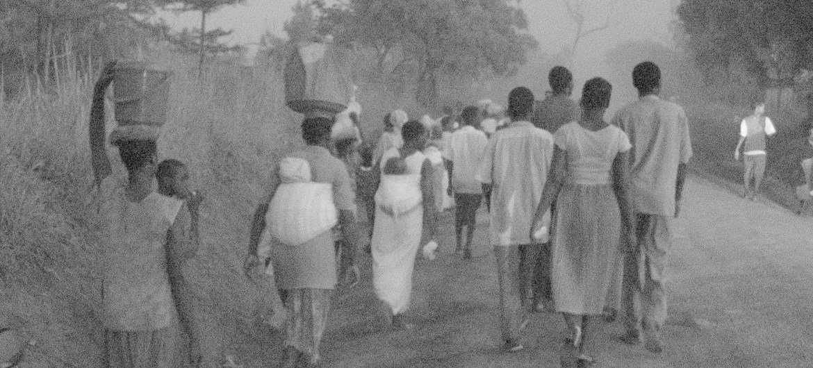 In 2004 in northern Uganda,  'night commuters' left their homes each night to stay in shelters fearing that children would be forcibly abducted by the LRA.