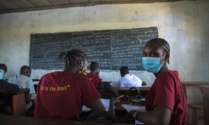 Students return to school in Juba, South Sudan, after more than fourteen months of COVID-19 restrictions.