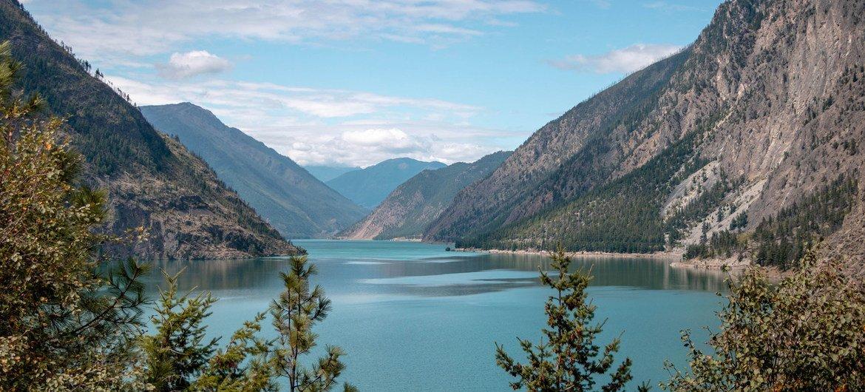 कैनेडा के ब्रिटिश कोलम्बिया में कमलूप्स झील.