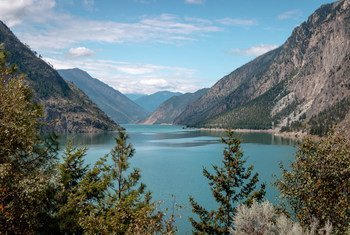 Kamloops lake in British Columbia, Canada, is located on traditional lands of the Secwepemc Nation.