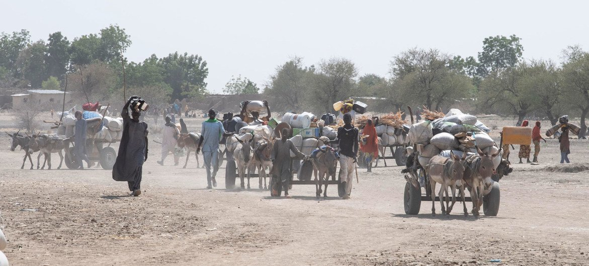 People are regularly displaced in north-east Cameroon due to conflict.