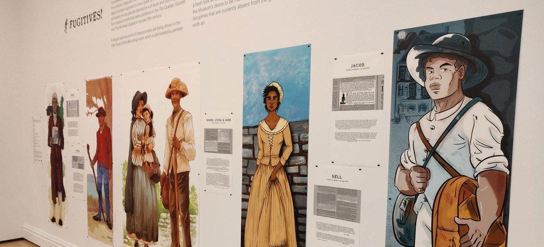 Webster a présenté au Musée national des beaux-arts du Québec l'exposition Fugitifs ! sur les esclaves en fuite.