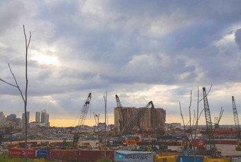 Le port de Beyrouth en avril 2021.