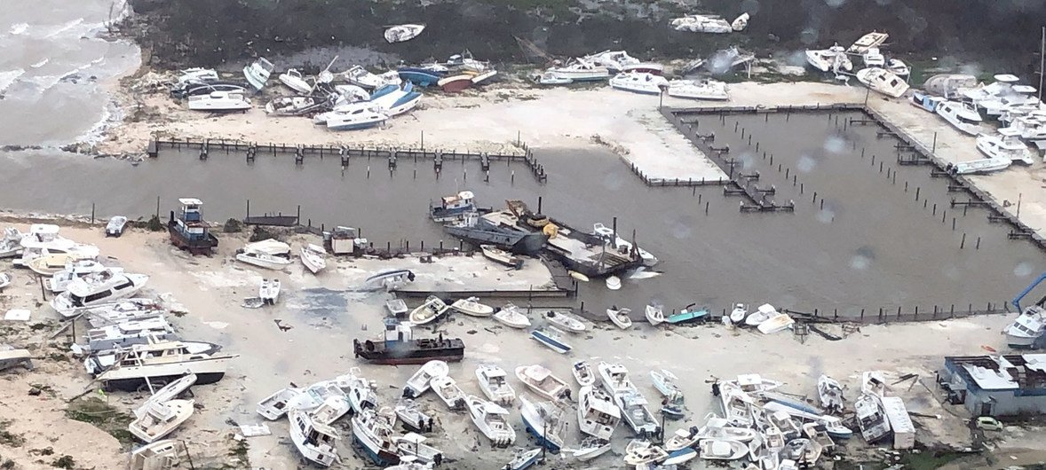 US Coast Guard Air Station Clearwater, Florida, responds to the devastation successful  the aftermath of Hurricane Dorian successful  the Bahamas. (2 September 2019)