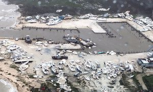 US Coast Guard Air Station Clearwater, Florida, responds to the devastation in the aftermath of Hurricane Dorian in the Bahamas. (2 September 2019)