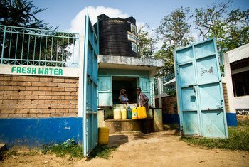 Fresh water for the residents of the Majengo slums on Kenya's coast has come on tap as part of a UN-Habitat rehabilitation project. (August 2018)