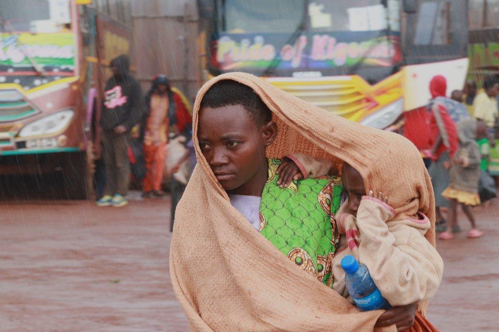 Des Burundais rapatriés de Tanzanie au centre de transit de Mabanda, dans la province de Makamba, Burundi. (24 avril 2018)