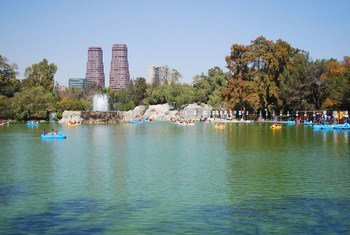 Lago de Chapultec en la Ciudad de México