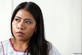 A atriz mexicana Yalitza Aparicio recebeu o título de embaixadora da Boa Vontade da  Unesco para Indígenas.