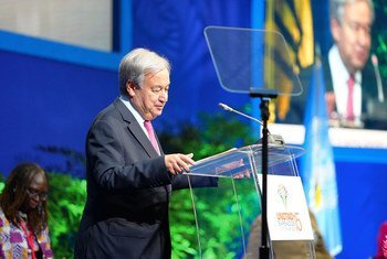 Secretary-General António Guterres addresses the opening of the UN Conference on Trade and Development, known as UNCTAD15, in Bridgetown, Barbados.