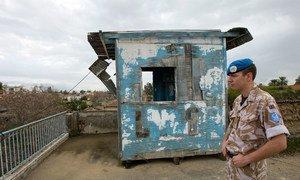 联合国驻塞浦路斯维持和平部队控制着敌对双方之间的缓冲区。(资料图片)