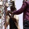 فاطمة خميس، مهندسة سودانية تعمل مع بعثة الأمم المتحدة في جمهورية أفريقيا الوسطى.