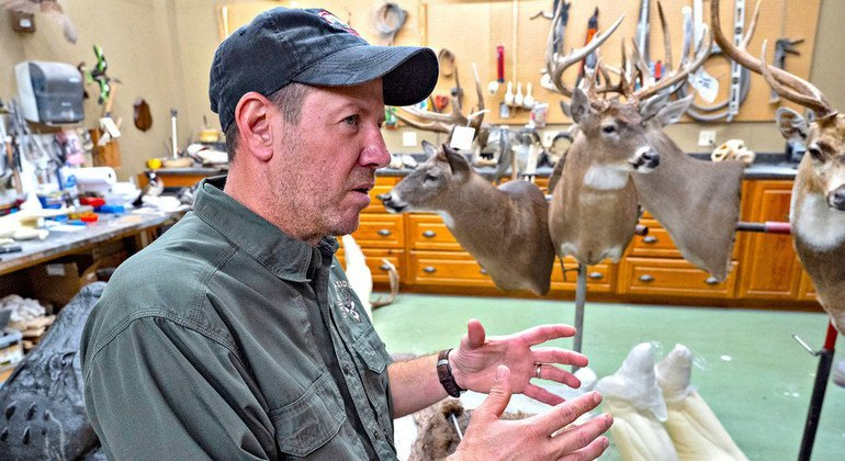 David Meagher has been a taxidermist for 30 years and has worked on wildlife from across the world.