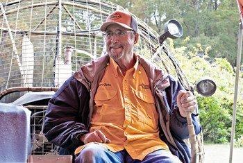 Captain Tucker Friedman is known as the alligator whisperer in Louisiana.