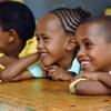 埃塞俄比亚哈勒尔的小学生正在上课。
