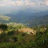 尼泊尔首都加德满都俯瞰图。