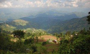 A panoramic view outside Kathmandu, Nepal.