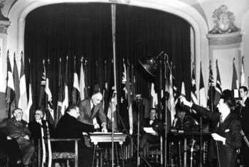 October 1945 the Food and Agriculture Organization of the UNited Nations (FAO) came into existence with the signature of its Constitution by more than 20 nations.