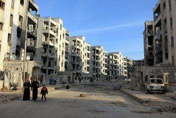 من الأرشيف: يزعم أن أسلحة كيماوية استخدمت في حلب بسوريا في تشرين الثاني 2018.