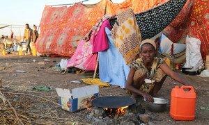 成千上万难民从埃塞俄比亚越过边界抵达苏丹,以逃离埃塞俄比亚提格雷地区的冲突。