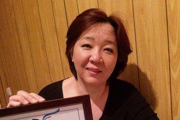 Дина Смаилова - активист и автор книги «Подвал» (под псевдонимом Дина Тансари)