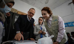 مدراء اليونيسف وبرنامج الإغذية العالمي ينهيان زيارة مشتركة إلى سوريا، للإطلاع على أثر النزاع على الأطفال والعائلات.