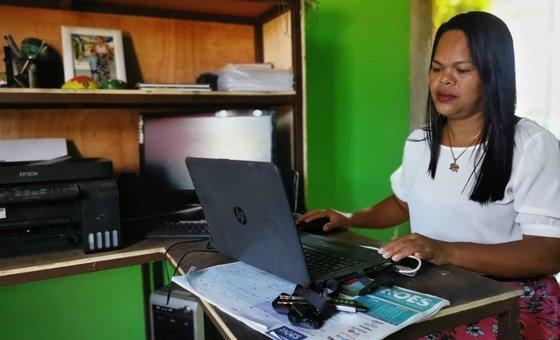 El Programa Conjunto de las Naciones Unidas apoya a Flor Rivera y su cooperativa Brujas del Mar.