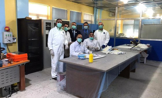 First batch of locally produced VTM in Iraq to support national laboratories maintain COVID-19 testing.
