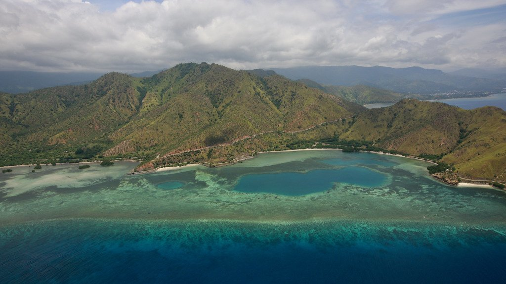 Picha ya kutoka angani karibu na mji mkuu wa Timor-Leste, Dili. (Maktaba)
