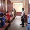 Visiting time at Ngaragba Prison in Bangui, CAR during COVID-19 pandemic.