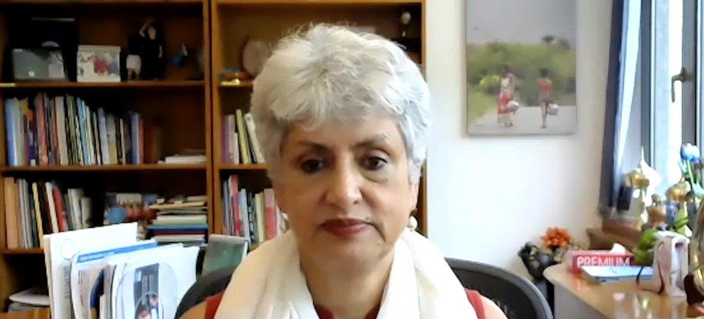 भारत में यूनीसेफ़ की प्रतिनिधि, डॉक्टर यासमीन अली हक़.