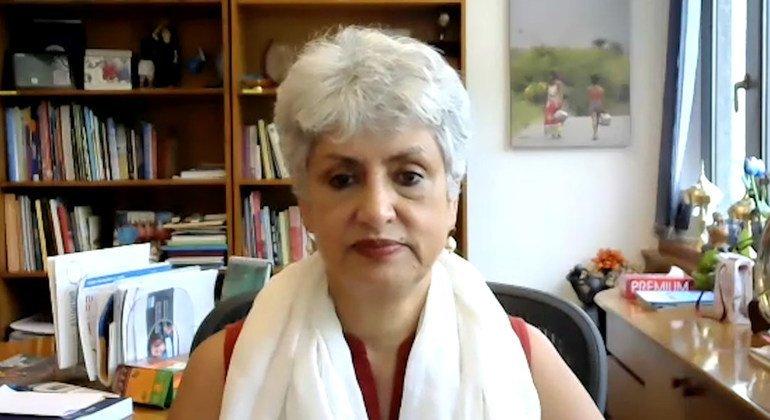 ممثلة اليونيسف في الهند، الدكتورة ياسمين علي حق.
